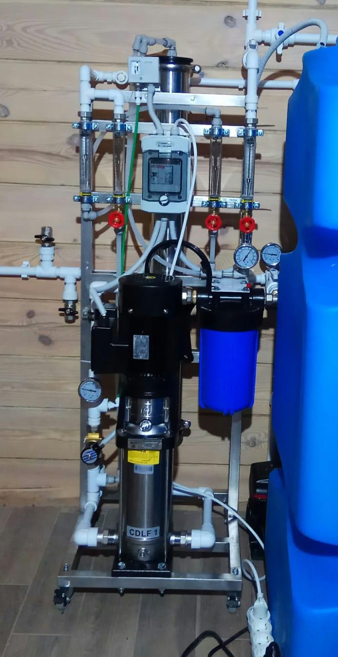 Система очистки воды с обратным осмосом для коттеджа в д. Агалатово