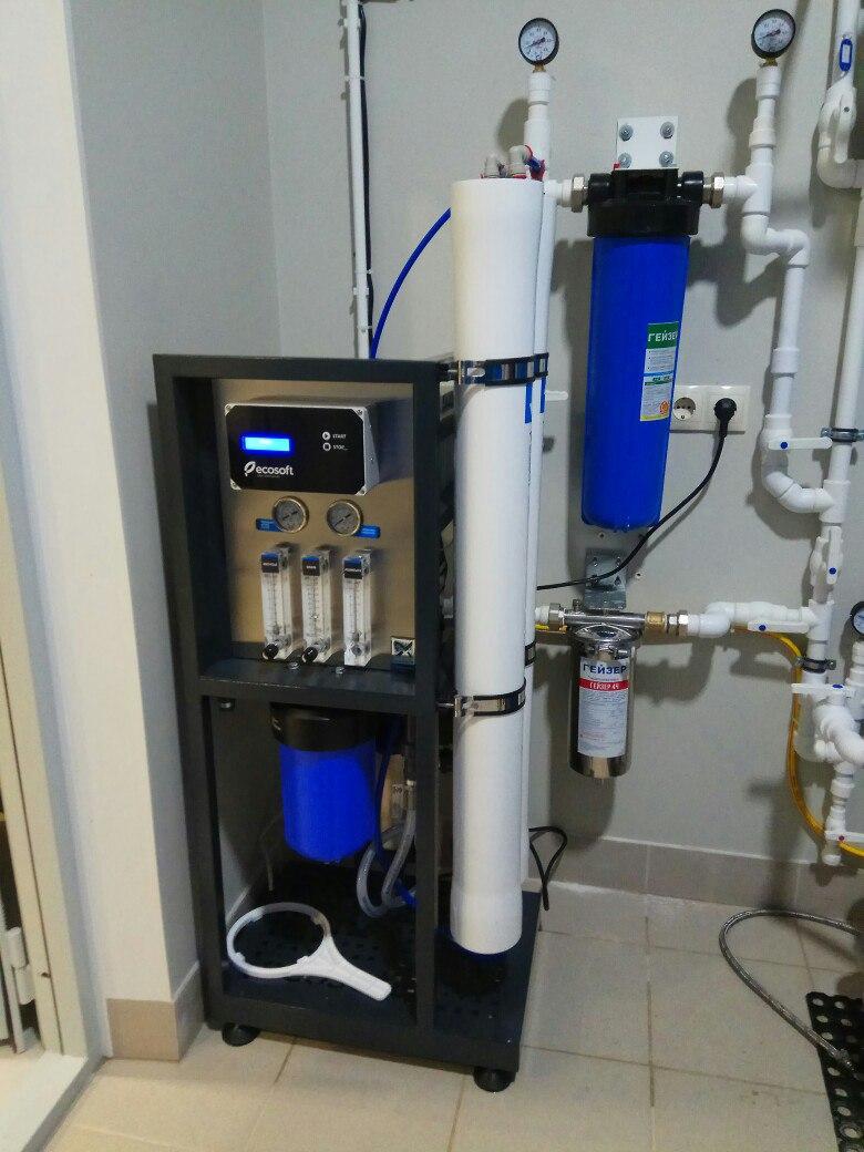 Система очистки воды с обратным осмосом для коттеджа в д. Вартемяги