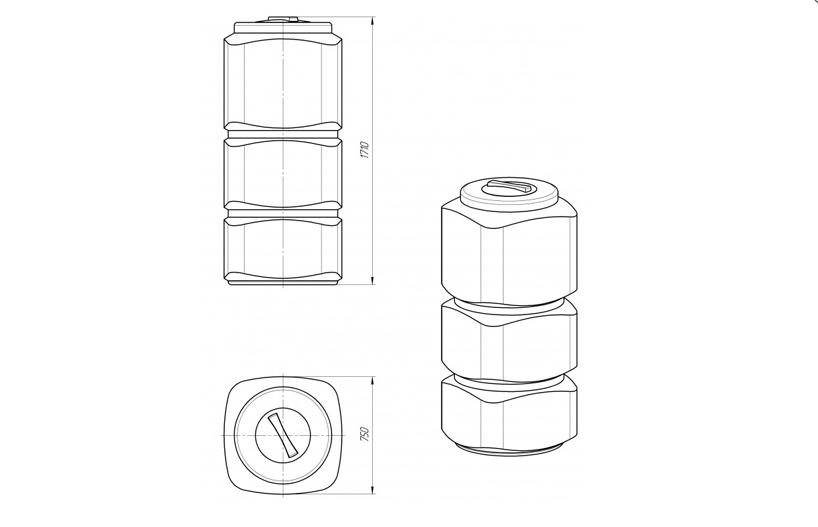Емкость L 750 - 1