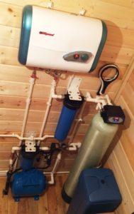 Система очистки воды из скважины в п. Ольшаники